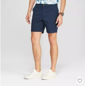 "Goodfellow 7"" Linden flat front chino men's shorts"